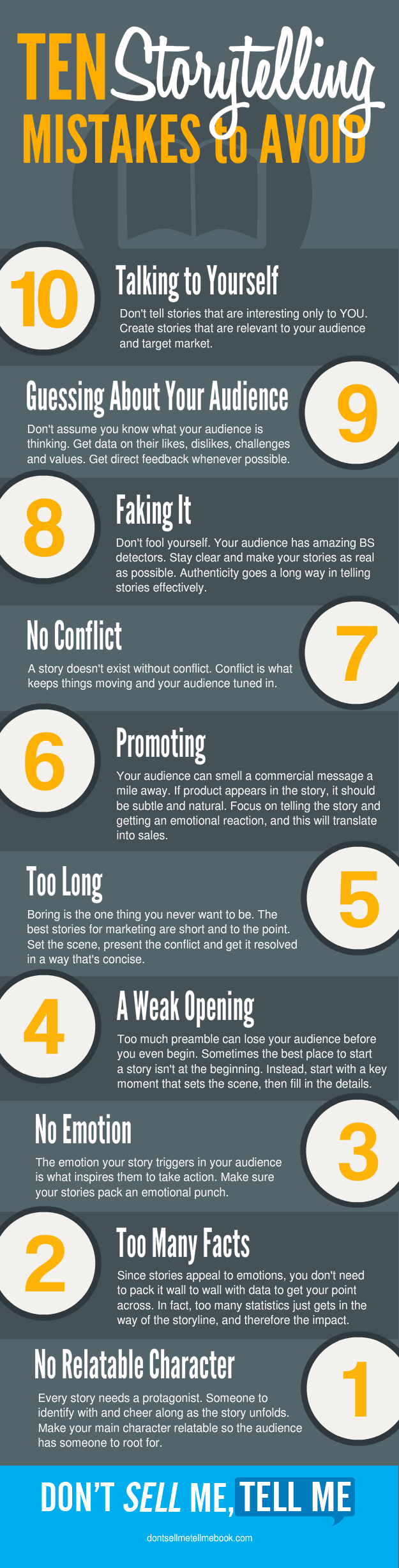 10 Storytelling Mistakes to Avoid