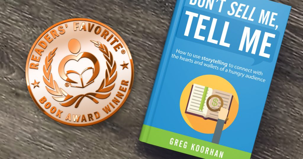 Storytelling for Business book by Greg Koorhan receives International Award